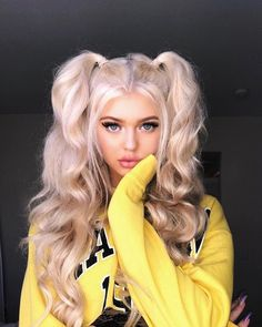 Pin By K I N Z On Loren Gray In 2019 Long Curly Hair Hair Curly - loren gray hairstyles step by step spring hairstyles step by step Hairstyles For School, Cute Hairstyles, Braided Hairstyles, Hairstyle Ideas, Pigtail Hairstyles, Summer Hairstyles, Wedding Hairstyles, Toddler Hairstyles, Hairstyles 2016