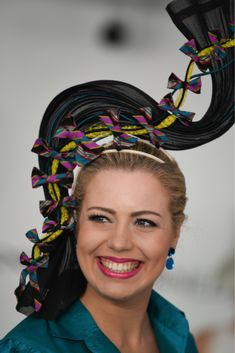 Entry by Lauren J Ritchie for Millinery Award - Oaks Day Melbourne Cup Spring Racing Carnival image by Elly Stemerdink for The Hat Magazine