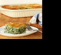 Authentic Greek pie, rich in flavor, can work as an appetizer or side dish.
