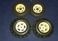 Tamiya Tire and Rim Set Hornet Frog SRB CAT You-G TR8412  Vintage RC Part (C8B5) #YouG