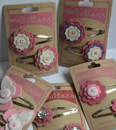 This month& colour challenge at The Ribbon Girl is PINK and WHITE and has been chosen by lovely teamie Jane. Felt Hair Accessories, Accessories Display, Felt Flowers, Fabric Flowers, Hair Flowers, Hair Bows, Hair Barrettes, Ribbon Hair, Felt Hair Clips