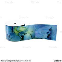 Blue hydrangeas ribbon http://www.zazzle.com/hydrangeas*