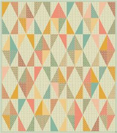 Happy Quilting: Give It A Spin - this quilt is made with half rectangle- not quite the reguar triangles.