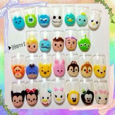 Tsum Tsum Nails total life nail hacksssssssssssssssssssss!!!!! tsum tsum it up