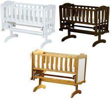 Saplings Glider Lockable Rocking Crib Cradle Baby Child Nursery Furniture BNIB