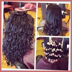 Body Wave Perm before and after Lovely Long Hair Perms before and after with Reg… Body Wave Perm before and after Lovely Long Hair Perms before and after with Regard to Glamour Perms Before And After, Loose Spiral Perm, Spiral Perms, Long Perm, Medium Hair Styles, Curly Hair Styles, Body Wave Perm, Finger Wave Hair, My Hairstyle