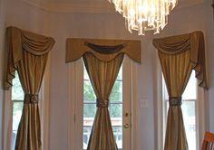 Wall of Window Treatments for Windows   Kitchen door drapery - window treatments - atlanta - by Dramatic ...