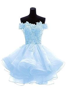35386aff28 Light Blue Knee Length Homecoming Dress