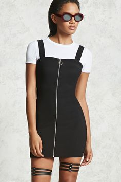 Ring Zipper Pull Combo Dress