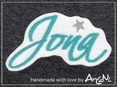 Aufnäher - Aufnäher Name ♥ Applikation Name ♥ Wunschname - ein Designerstück von AnCaNi bei DaWanda