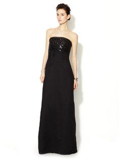 Strapless Embellished Bustier Gown by Carolina Herrera on Gilt.com
