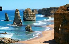 The Twelve Apostles on The Great Ocean Road Victoria Australia. Brought to you by Femme Classic Art http://www.femme-classic-art.com Tags: #win #trip #to #Australia #pin #it #to #win #it! #Contest #competition #travel #The #Twelve #12 #Apostles #on #The #Great #Ocean #Road #Victoria #Australia