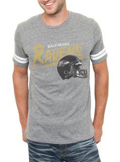 Go Ravens!  NFL Baltimore Ravens Vintage Inspired Throwback Tee  $42  www.junkfoodclothing.com