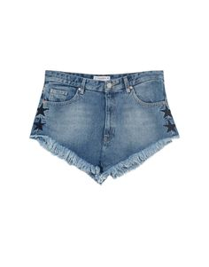 Denim shorts with embroidered star - New - Woman - PULL&BEAR United Kingdom