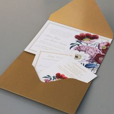 To see more gorgeous wedding invitations: http://www.modwedding.com/2014/11/07/wedding-invitations-jaw-dropping-pretty/ #wedding #weddings #wedding_invitation