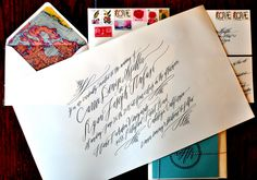 I'm always so impressed with the work of calligrapher Betsy Dunlap; there's just something about her modern calligraphy script that is just completely and utterly romantic, don't you think? My jaw practically hit the floor when I saw these travel-inspired invitations that she created for the sister of a close friend. Betsy calligraphed the invitation …