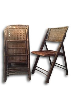 These 4 amazing antique vintage (estimated early 1900) tortoise shell folding chairs are above and beyond quality and craftsmanship. The finish of the cane and bamboo are naturally aged due to their period; magnificent condition. Each piece opens and folds with ease and is in good working condition. The brass hardware is sturdy, and each chair has a good weight. SHOP http://www.heathertique.com/products/beautiful-set-of-4-antique-vintage-folding-tortoise-bamboo-cane-chairs | Vintage Home…