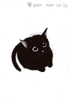 black cat of pinkmew - illustrations - ., cute black cat of pinkmew - illustrations - ., cute black cat of pinkmew - illustrations - . Cute Black Cats, Cute Cats, Pretty Cats, Black Cat Drawing, Kitty Drawing, Black Cat Painting, Cute Cat Drawing, Black Cat Tattoos, Cat Wallpaper