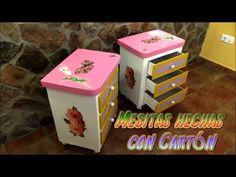 Mesitas hechas con cartón para un cuarto de cuento de princesas | Manualidades