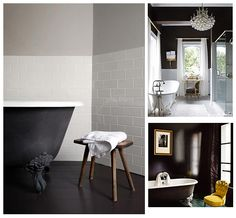 Who would have thought that a black bathroom would be so chic!
