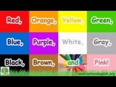 ▶ The Colors Song ~ fun learning for children ~ by Natural English .org - YouTube