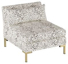 Marceau Slipper Chair, Cream/Gray - Accent Chairs - Chairs - Living Room - Furniture One Kings Lane Cool Desk Chairs, Black Dining Room Chairs, Living Room Chairs, Living Room Furniture, Home Furniture, White Chairs, Grey Accent Chair, Grey Chair, Accent Chairs