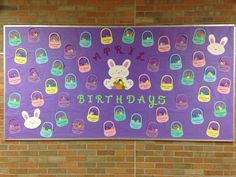 April Birthday Bulletin Board - Easter Baskets