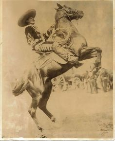 """Jose Barrera (1876 – 1949) aka 'Mexican Joe'....Only fifteen years old at the time, Jose was already an expert equestrian and roper. Because of his accomplished use of the lariat from horseback, Wild West Shows billed him as the greatest trick roper in the world. He toured throughout the United States and Europe with Pawnee Bill, Buffalo Bill Cody, and the Miller Brothers 101 Ranch Show. He and other performers executed the spectacular """"Bailable a Caballo"""" in which riders and horses danced…"""