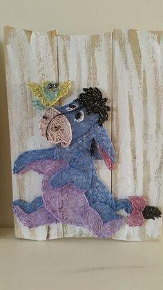 Cartoon Charachters string art. Pooh Bear Eeyore by AllStrungUpp