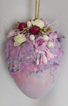 Easter Egg Crafts, Easter Eggs, Mix Media, Food Inspiration, Diy And Crafts, Christmas Decorations, Felting, Cards, Ideas
