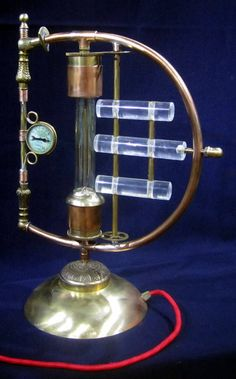 Steampunk Lamp - Galvanic Impulse A unique copper and brass desk light.. $325.00, via Etsy.