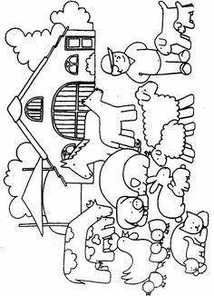 ausmalbilder bauernhof 01 | bauernhof, thema bauernhof