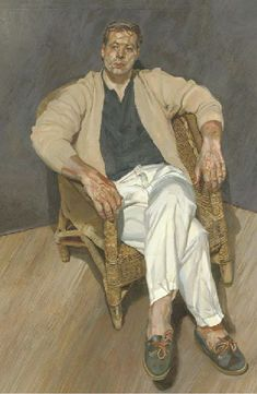 Man in a String Chair - Lucian Freud, 1988-1989