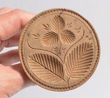Antique Carved Wood BUTTER mold stamp print