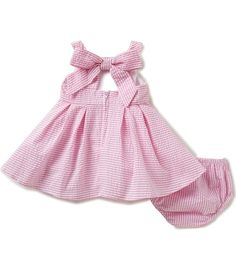 Shop for Rare Editions Baby Girls 3-24 Months Striped Seersucker Bow-Back Dress at Dillards.com. Visit Dillards.com to find clothing, accessories, shoes, cosmetics & more. The Style of Your Life.