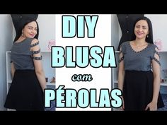 Passo a Passo: Customize blusas com Pérolas ABS Shine Beads® + E6000 DIY Feat. Suellen Redesign - YouTube