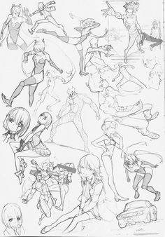 Poses, character design, line weight, shading, artistic style pencil/pen ar Body Drawing, Manga Drawing, Figure Drawing, Drawing Sketches, Drawings, Character Design Cartoon, Character Sketches, Character Design References, Drawing Reference Poses