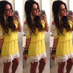 #hair #womenfashion #popular #beauty #lace Elegant Dresses, Nice Dresses, Dresses For Work, Club Party Dresses, Dress Picture, Summer Dresses For Women, Dress Summer, Clubwear, Lace Dress