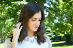 Kate Spade Silver Flower Necklace, Essie Mod Square   @katespadeny @essiepolish