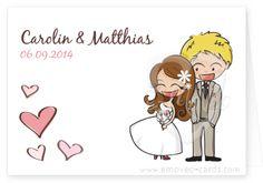 Original Wedding invitation by e-MoVeo Cards Hochzeitskarte invito matrimonio originale Comic-stil Stile fumetto www.emoveo-cards.com