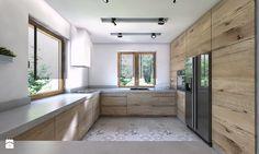 Projekt domu jednorodzinnego 4 - Średnia otwarta kuchnia w kształcie litery u w…