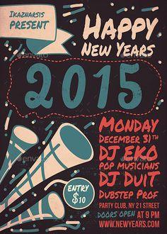 Vintage  Retro For Event  Party Flyer Templates  Vintage