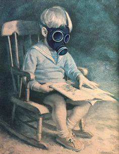 FREE SHIPPING  Dr. Who Gas Mask Child Parody by DavePollot on Etsy