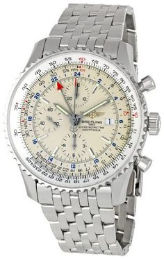 Breitling Men's A2432212/G571 Navitimer World Chronograph Watch Breitling. $5700.00. Automatic-self-wind movement. Case diameter: 46 mm. Scratch resistant sapphire crystal protects watch from scratches,. Stainless-steel case. Water-resistant to 100 m (330 feet). Save 25%!