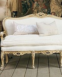 One of a kind vintage French Louis XV settee