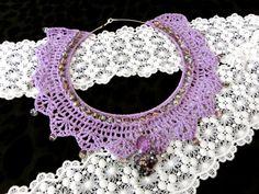 Lavender Crochet Collar Necklace / Choker / by PrincessInDreams