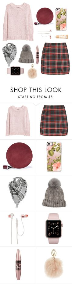 """""""Chunky knits"""" by aanya-i ❤ liked on Polyvore featuring H&M, Diane Von Furstenberg, Casetify, Eugenia Kim, JBL, Maybelline and Furla"""