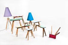 Chair | Bench | Lamp: Alex Valder - Boekkle | Hoekkle (www.alexvalder.de)