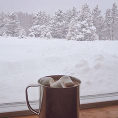 Imagen de winter, snow, and hot ​chocolate I Love Winter, Winter Is Coming, Winter Snow, Winter Christmas, Cozy Winter, Winter Holidays, Winter White, Christmas Time, Winter Coffee