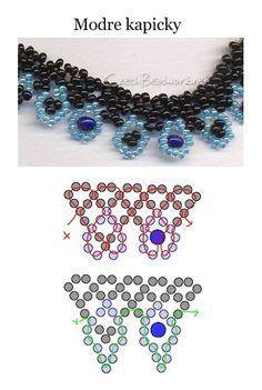 Modre kapicky - Seed bead pattern